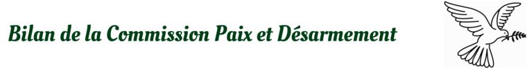 Commission Paix et Desarmement